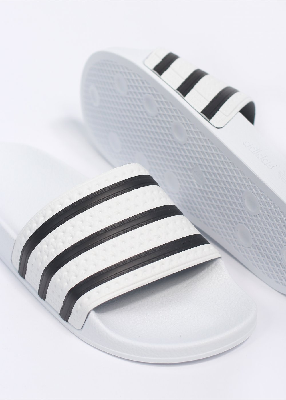 huge selection of 5c66c 11f38 Adilette Flip-Flop Sandals - White   Black
