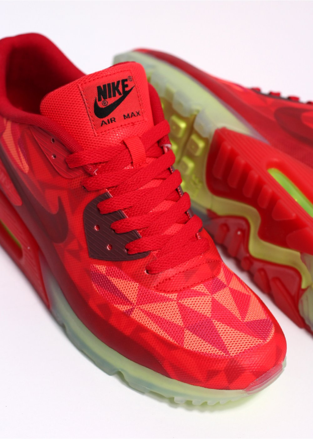 new concept 27ec4 30893 ... Air Max 90 quotIce Packquot Trainers - Gym Red University Red .