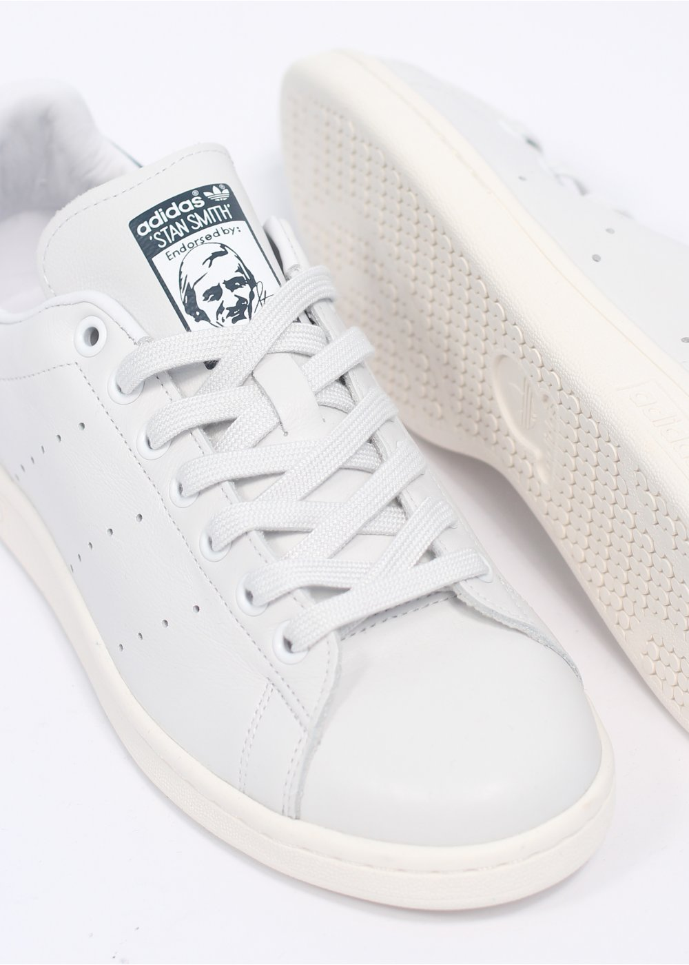 adidas Originals Footwear Stan Smith Vintage Leather Trainers Neo White New Navy