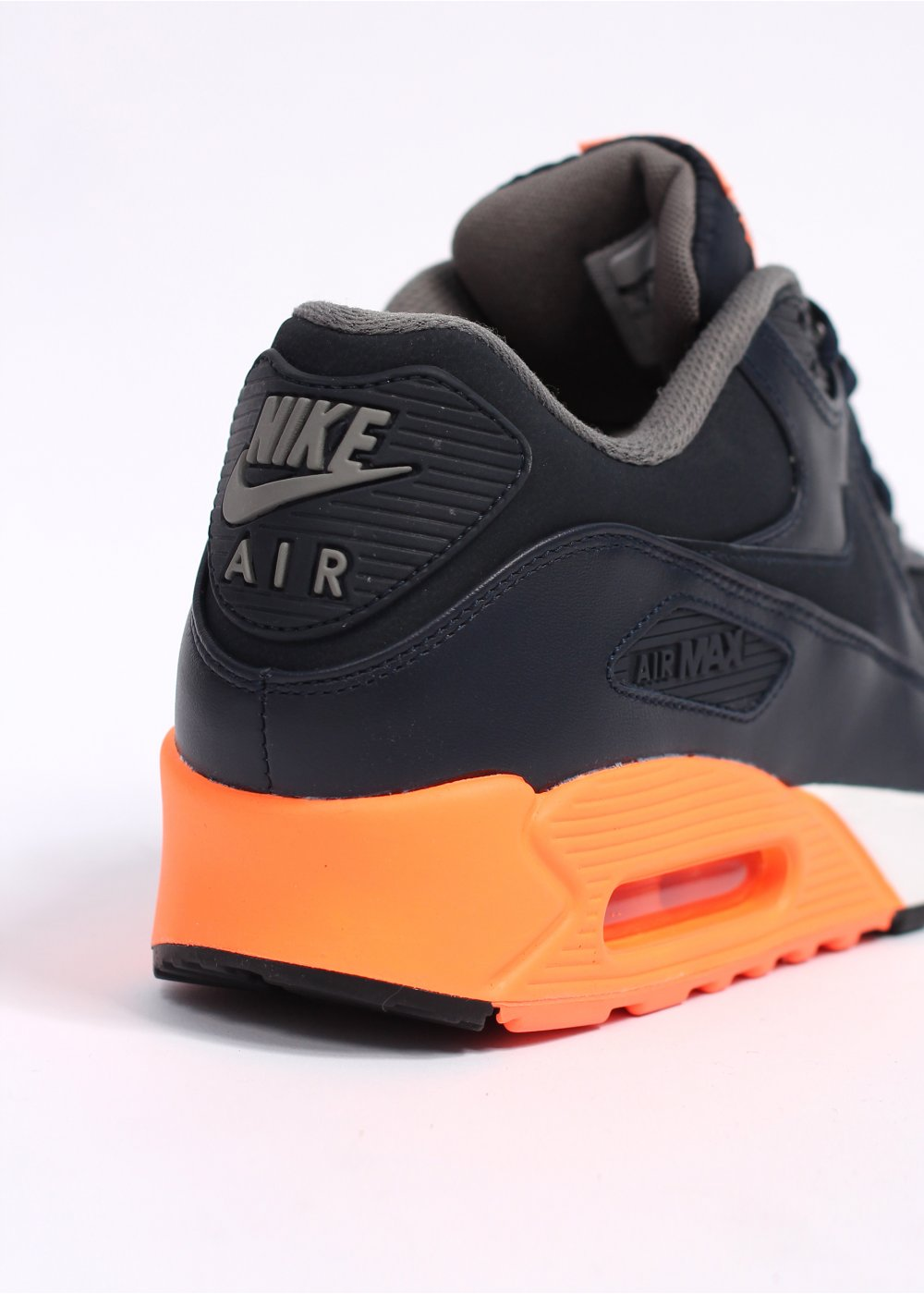 4985821ffcfd3b ... Air Max 90 Premium Trainers - Dark Obsidian   Atomic Orange ...