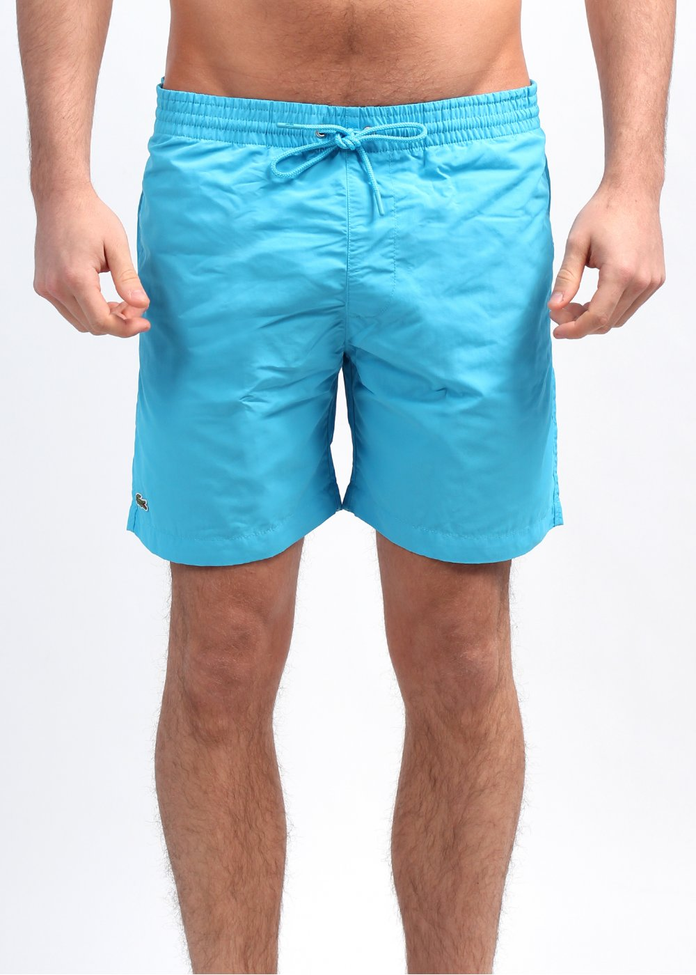 black lacoste swim shorts
