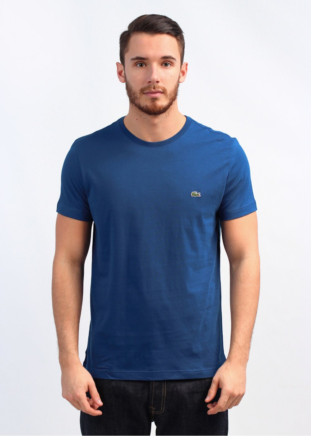 Lacoste Crew Neck T Shirt Deep Blue