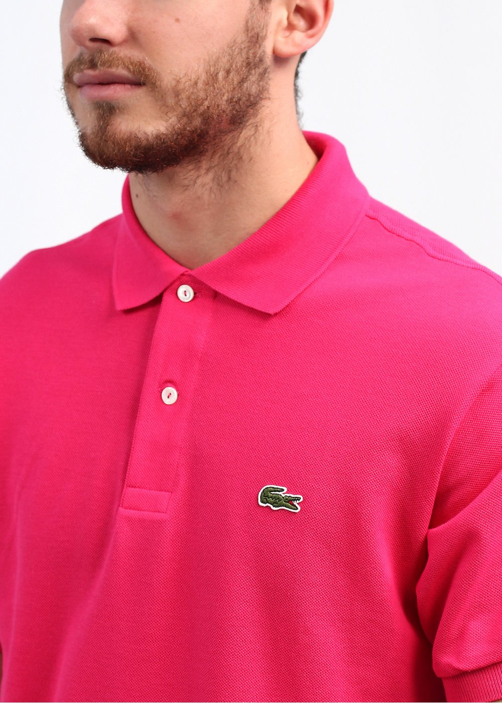 237b3264a Lacoste Best Polo Shirt - Bright Pink