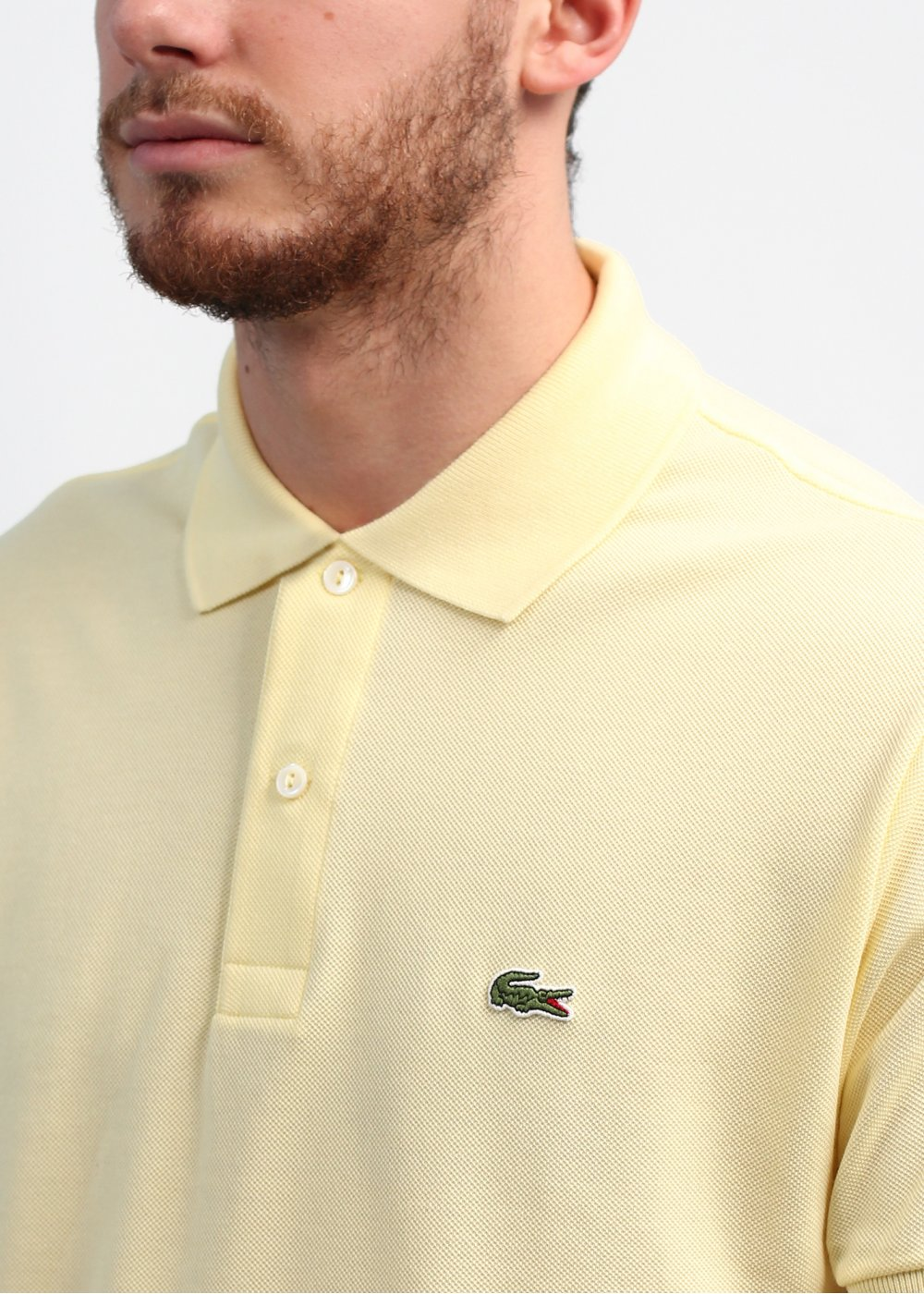 beige lacoste polo shirt