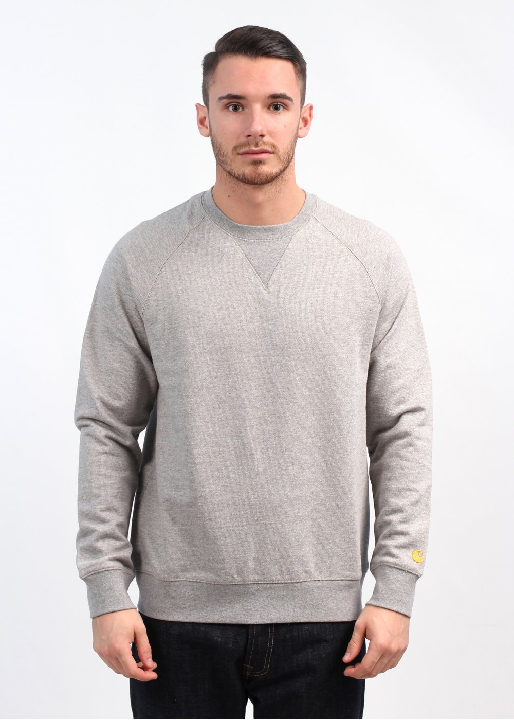order look out for arriving Carhartt WIP Chase Sweatshirt - Grey