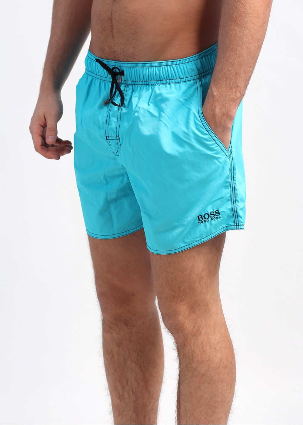 9d201c47e61b Hugo Boss Black Lobster Swim Shorts - Light Blue