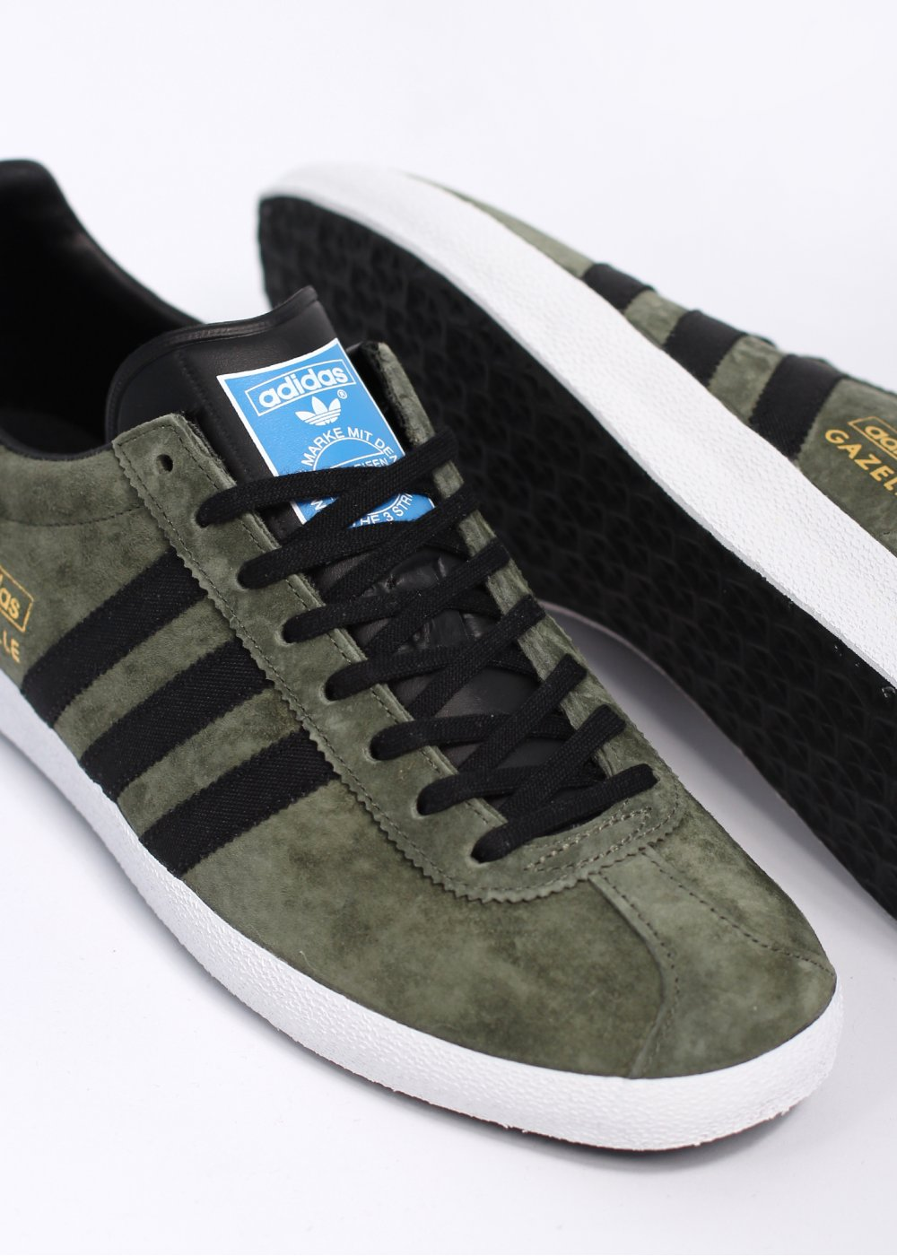 green adidas gazelle trainers