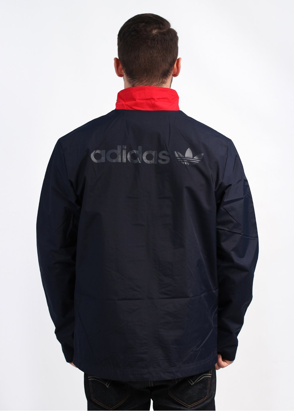 adidas Originals Apparel Vintage 3 Stripes Rain Jacket Legend Ink