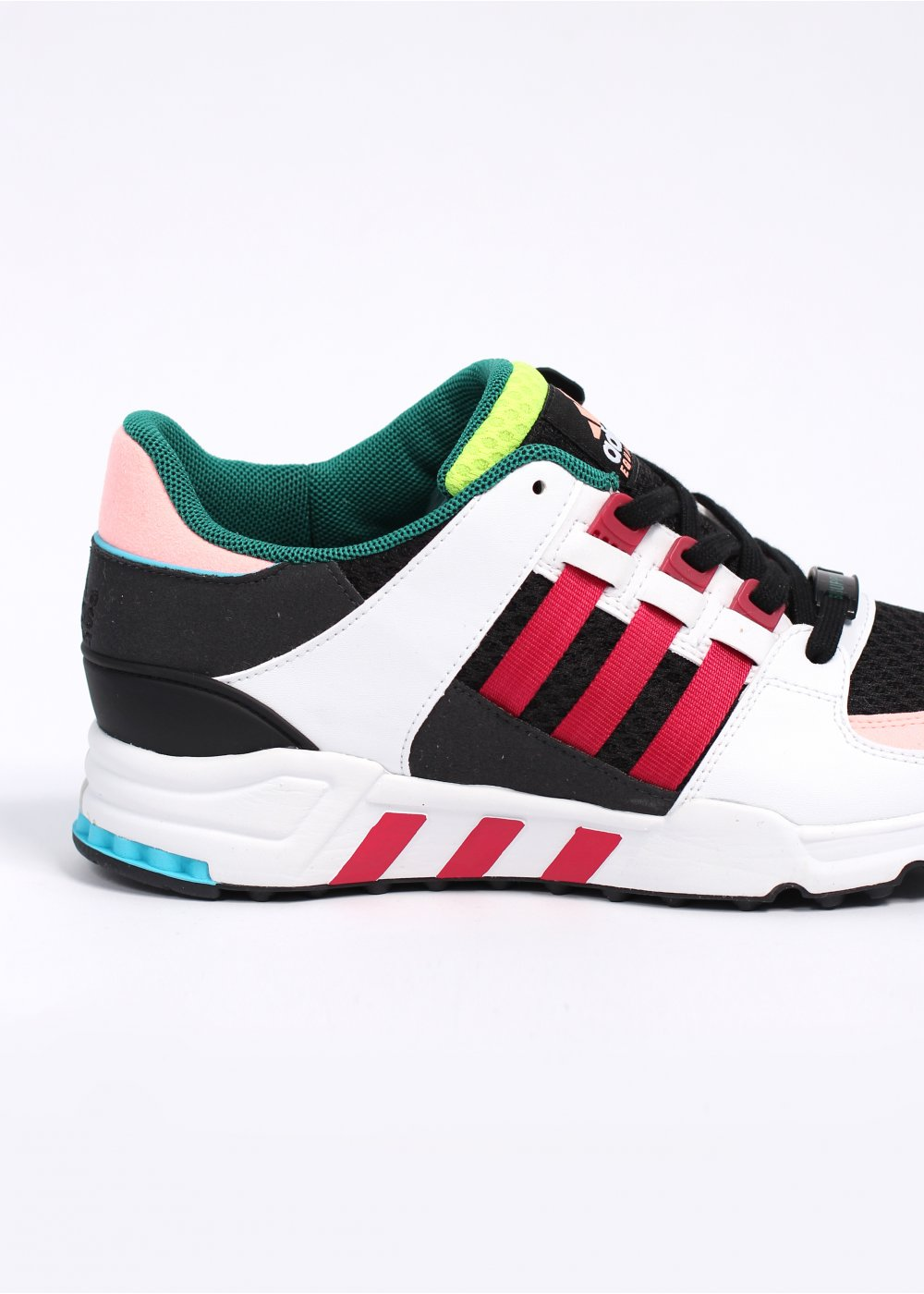 official photos 63bd2 eff4a adidas Originals Footwear Equipment EQT Running Support 'Oddity' Trainers -  Black / Red Beauty