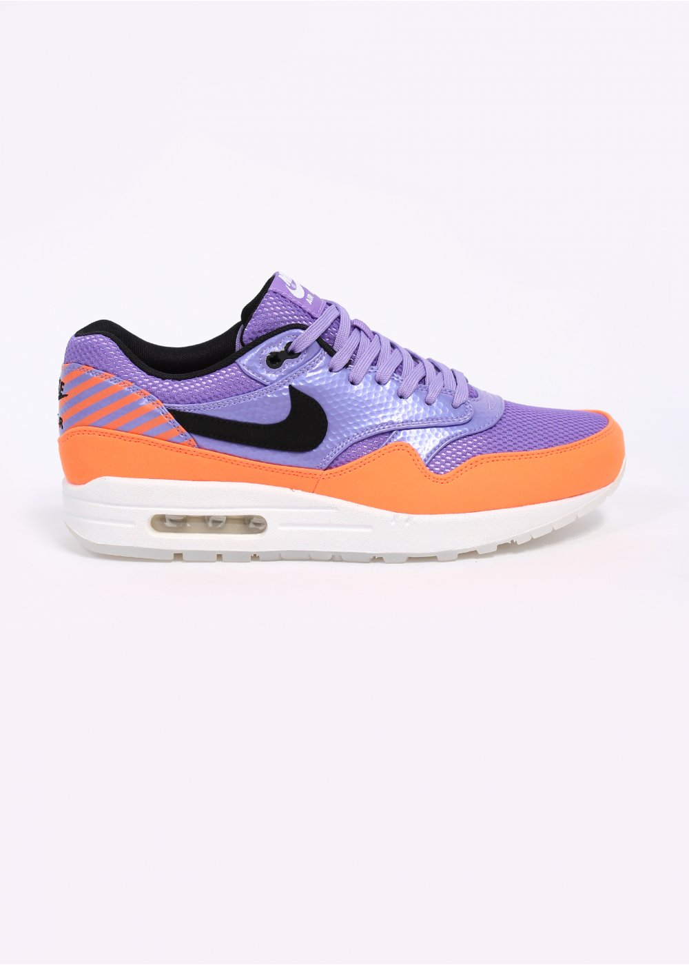 Nike Quickstrike Air Max 1 FB Premium Mercurial QS Trainers Atomic Violet Black Total Orange