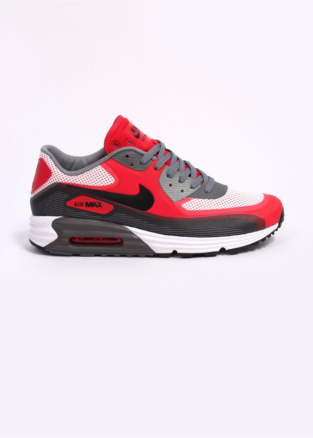 low priced 0b0eb 12c1d Nike Air Max Lunar 90 C3.0 Trainers - White   Black   University Red