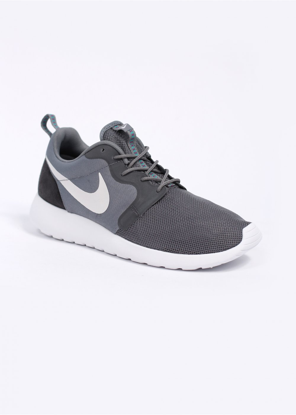 brand new e57f1 6a39b Rosherun Hyperfuse Trainers - Cool Grey  White