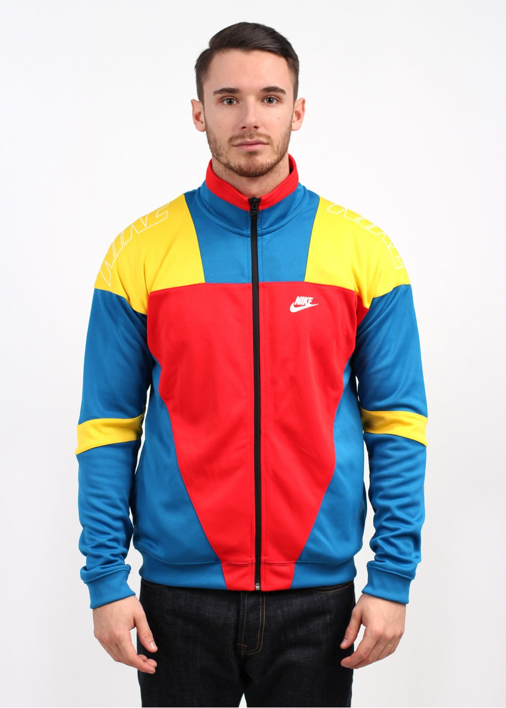Nike Colourblock Track Jacket Red Blue Yellow