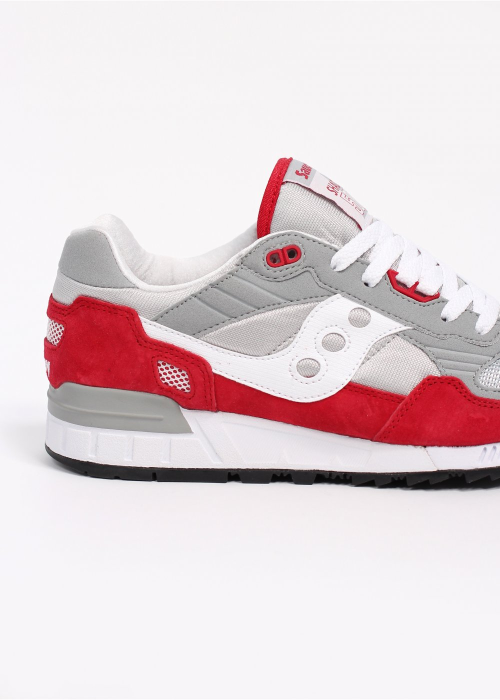 sale retailer 54a35 8c383 Saucony Shadow 5000 OG Premium Trainers - Grey / Red