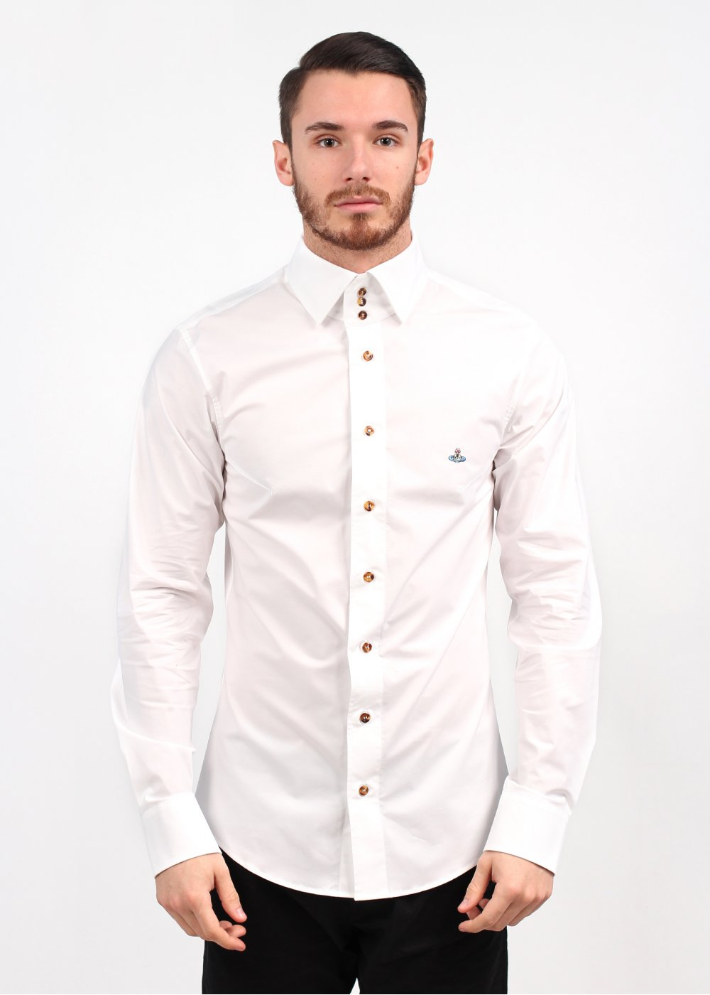 vivienne westwood 3 button collar shirt white ss14 ForMens Button Collar Shirts