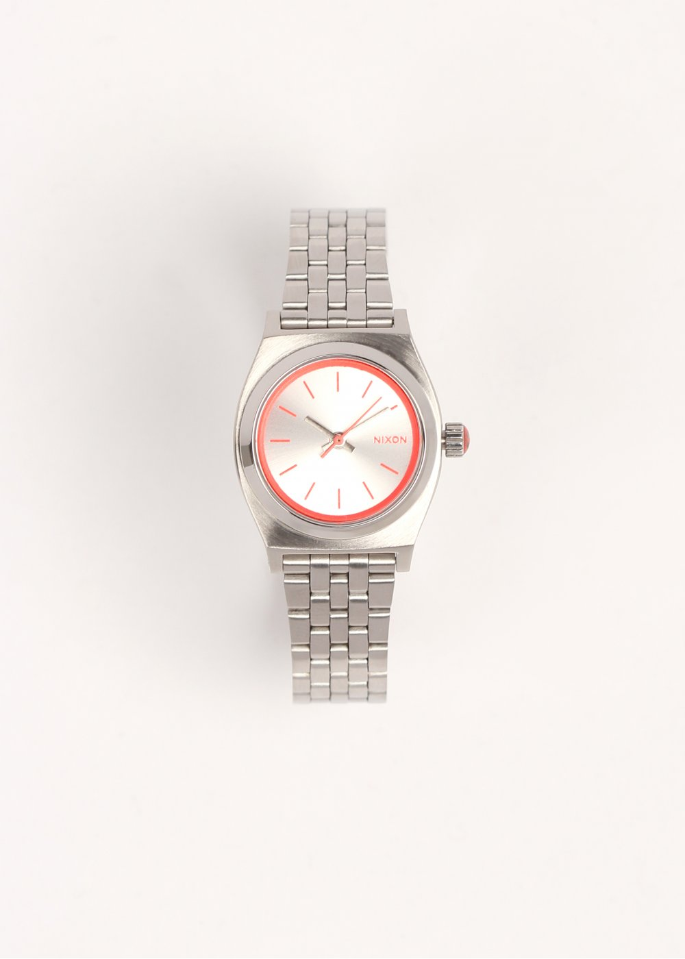 Nixon Ladies Small Time Teller Watch - Silver   Pink - Watches from ... e9e40d07b
