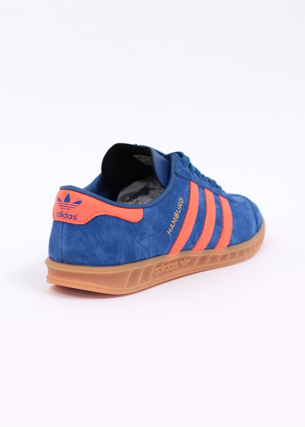 Ambicioso finalizando reacción  adidas Originals Hamburg 'Dublin' Trainers - Royal Blue / Warning Red