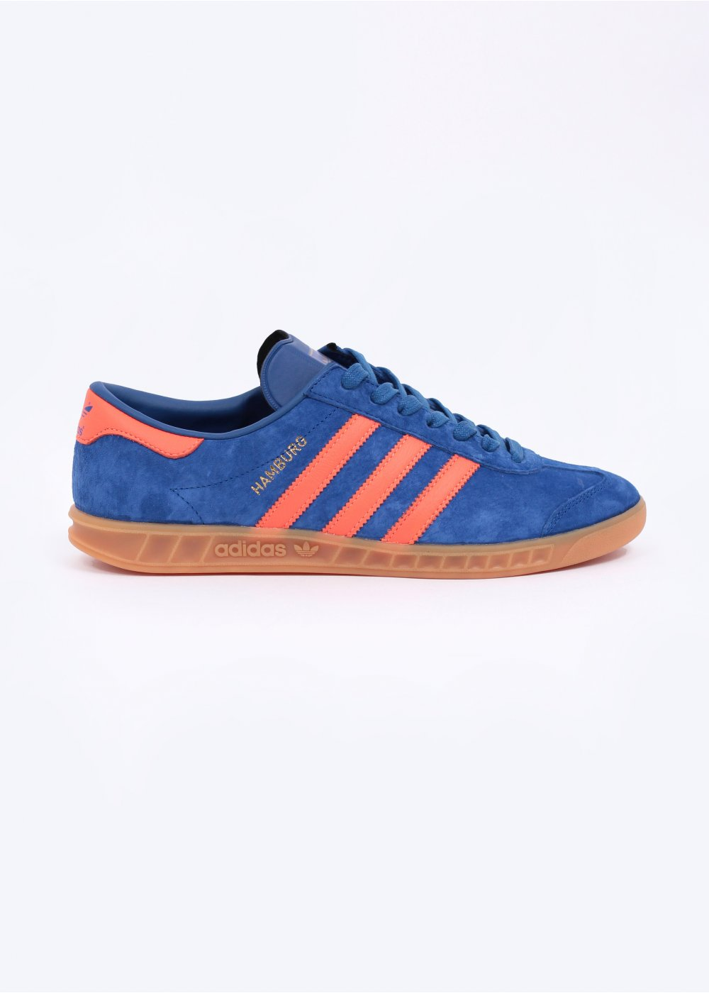 147d589a62c1 adidas Originals Hamburg  Dublin  Trainers - Royal Blue   Warning Red