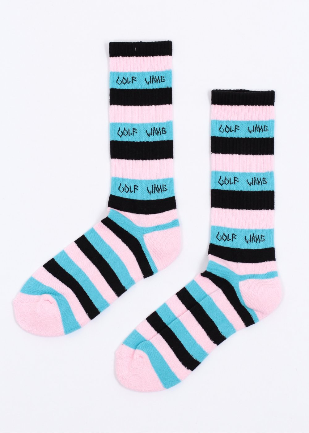 9b49975d1e5a Odd Future Golf Wang Striped Sock - Pink