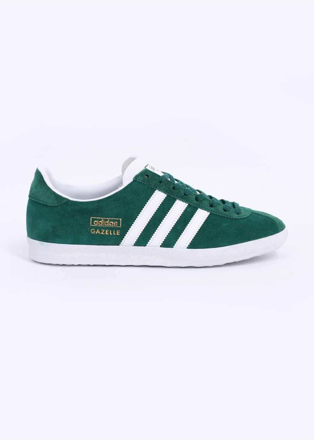 free shipping 8a9ab b4e29 Gazelle OG Trainers - Forest Green  Running White