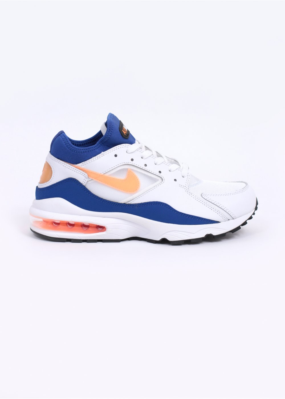 low priced 149c0 728c1 Air Max 93 Trainers - White   Hyper Blue   Bright Citrus