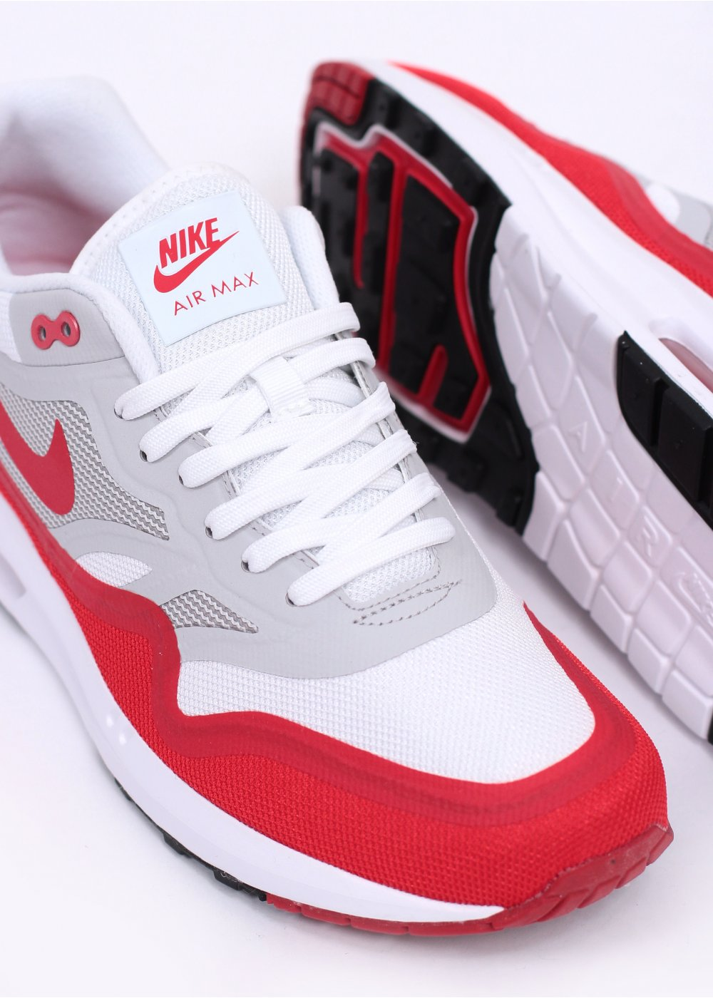 run shoes new high quality lowest discount Nike Footwear Air Max Lunar 1 OG Trainers - White / Chilling Red / Natural  Grey