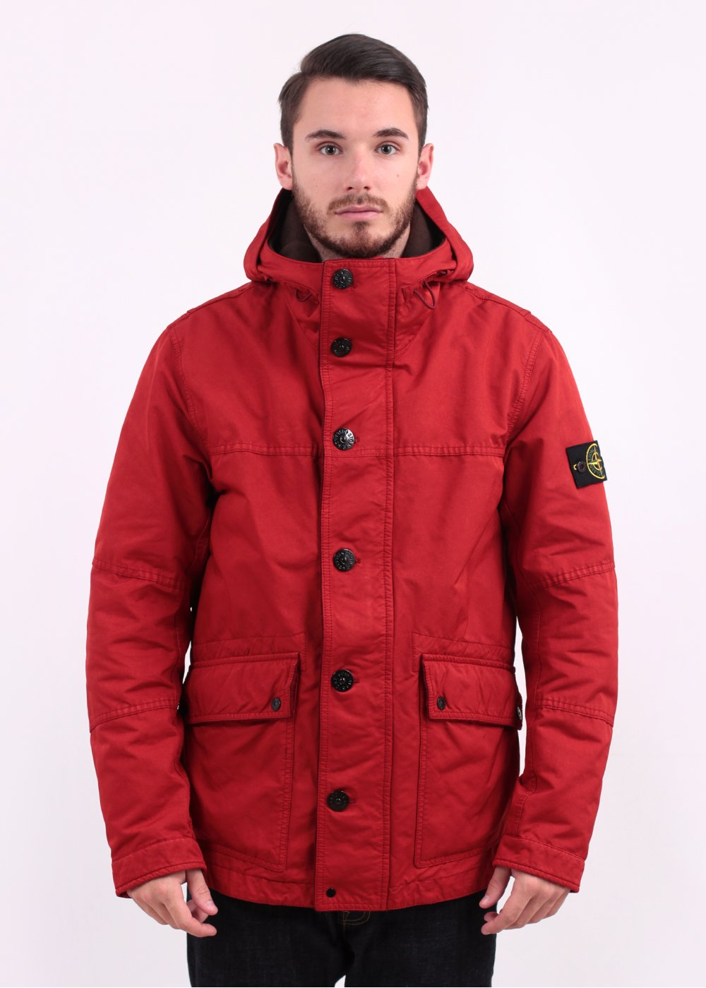 stone island david tc jacket red. Black Bedroom Furniture Sets. Home Design Ideas