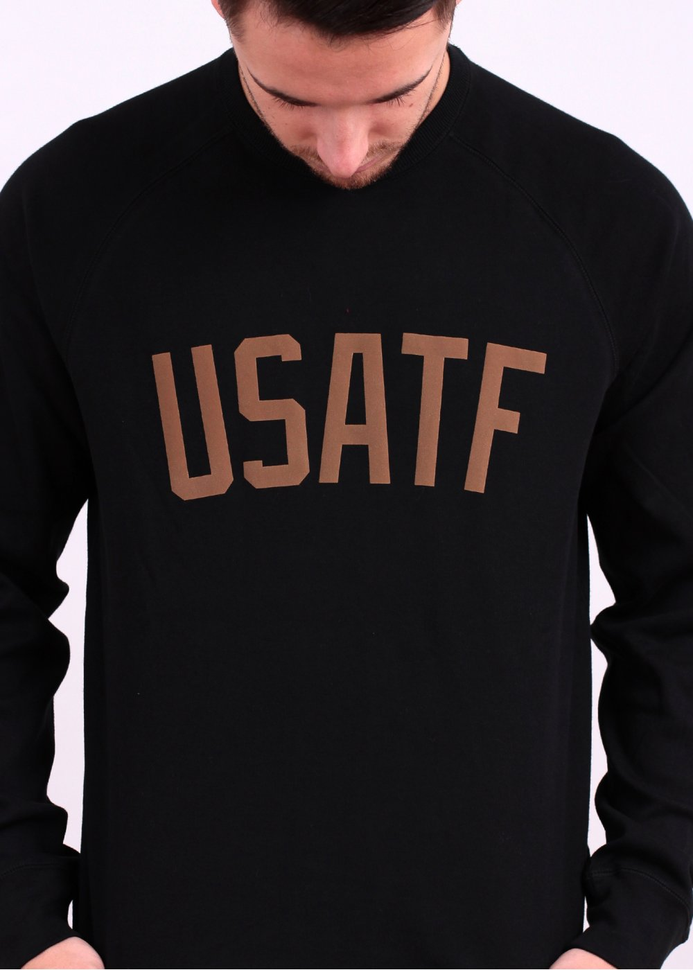 Nike Apparel RU USATF Crew Sweatshirt Black