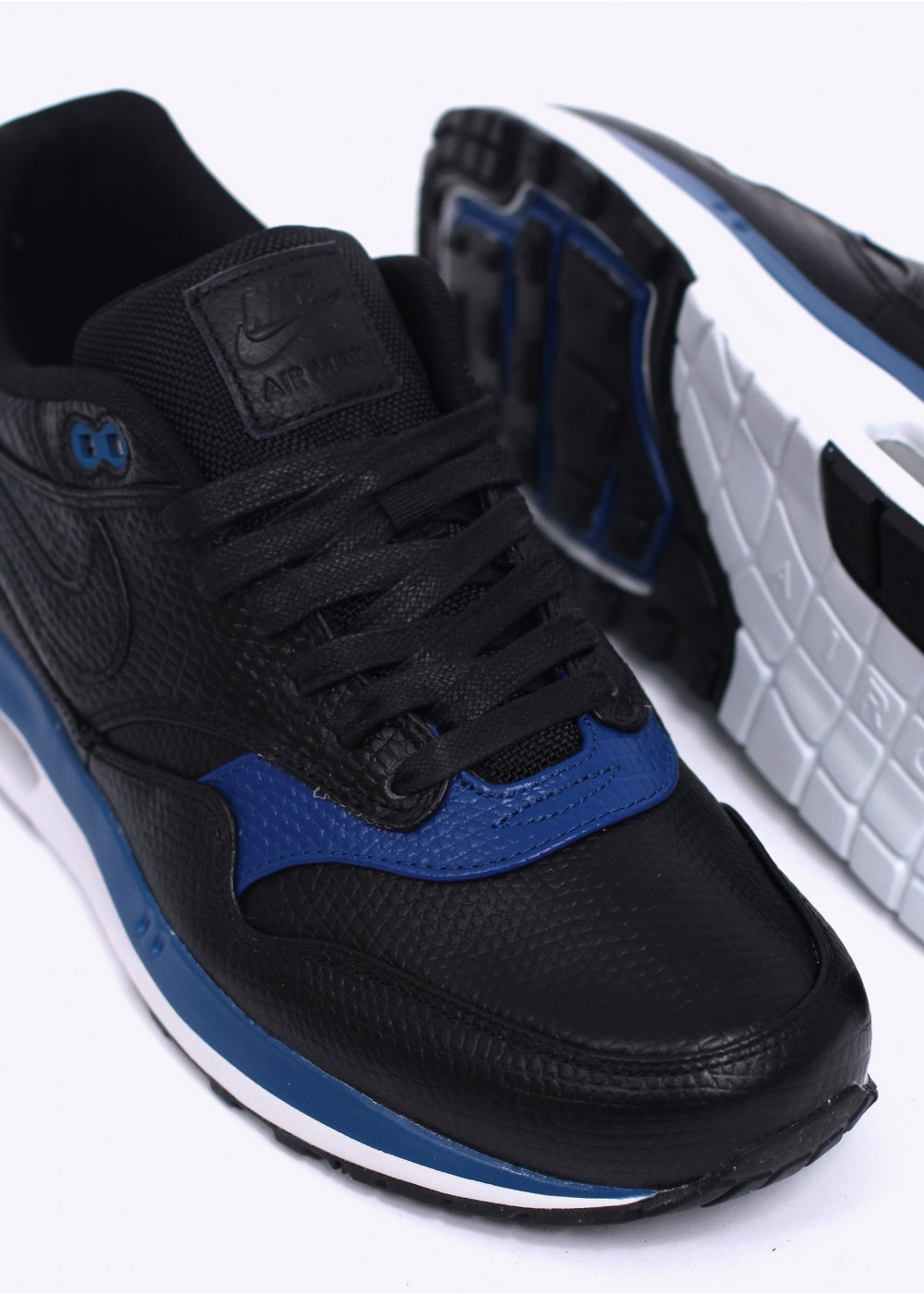 4859f9c72bdf Nike Air Max Lunar 1 Deluxe Trainers - Black   Gym Blue