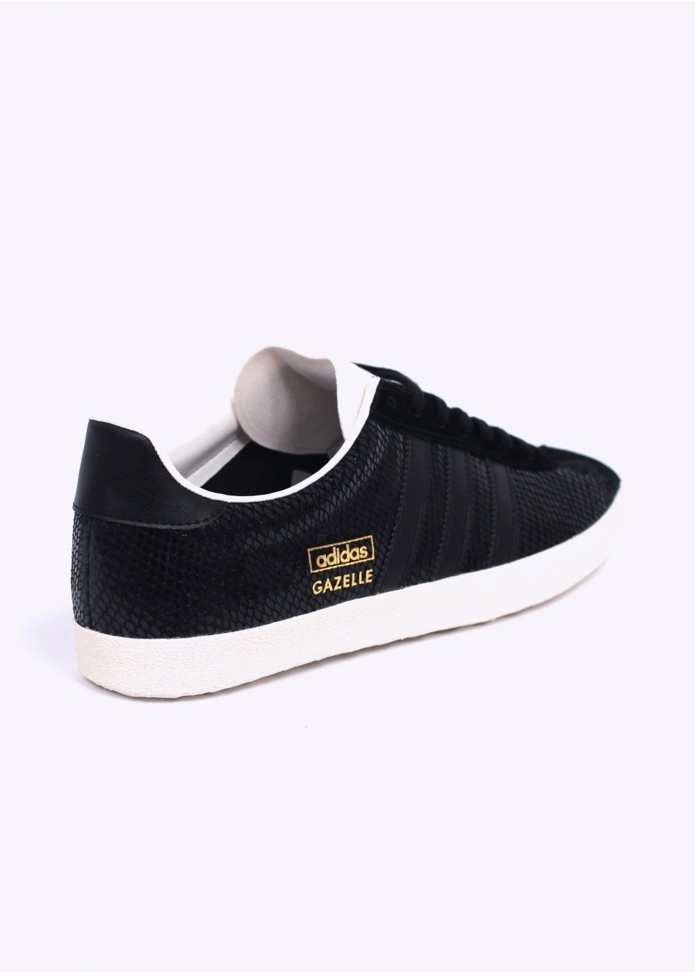 adidas gazelle womens black snake