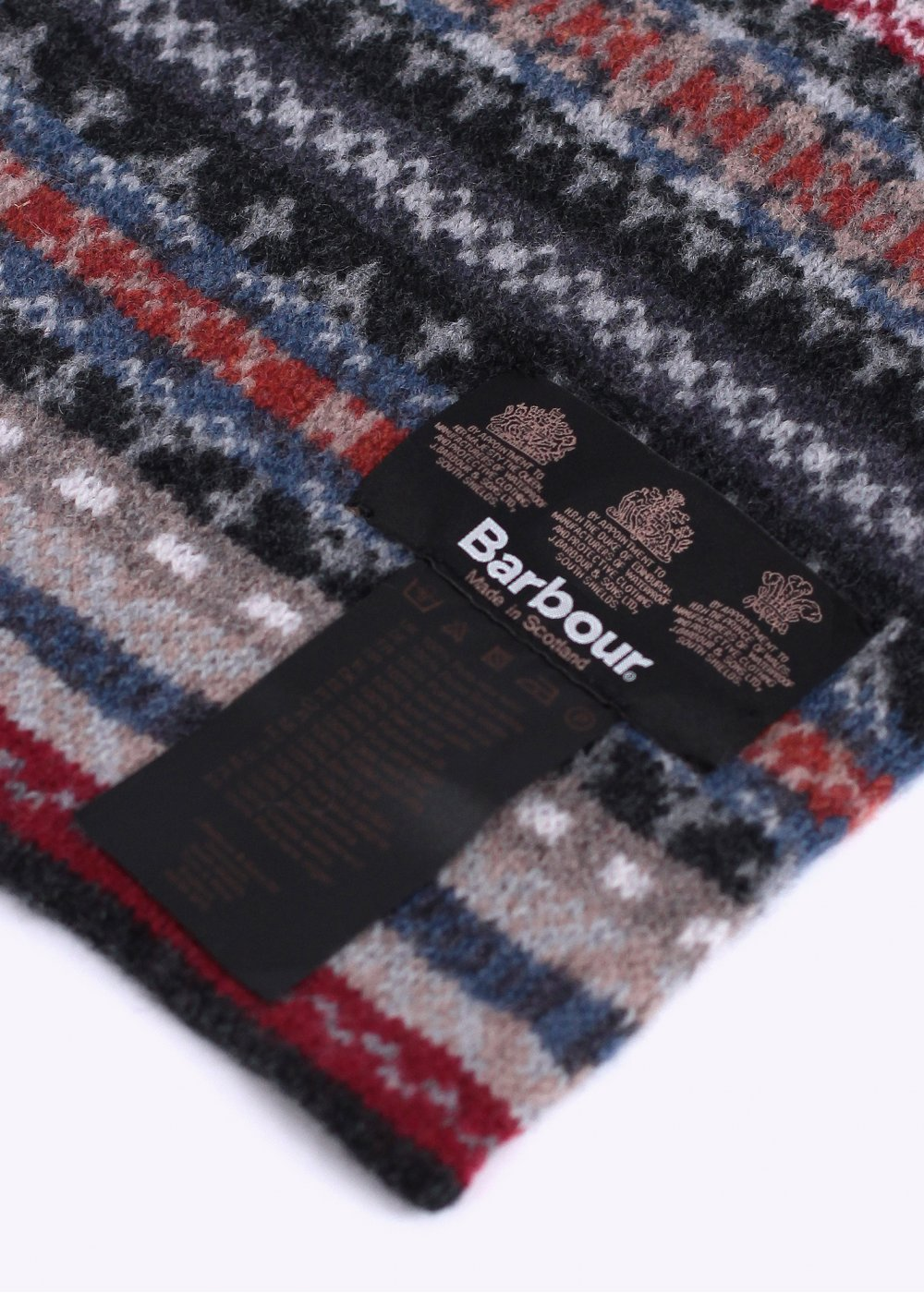 228f8bf6e5e Barbour Melrose Wool Scarf - Grey   Multi