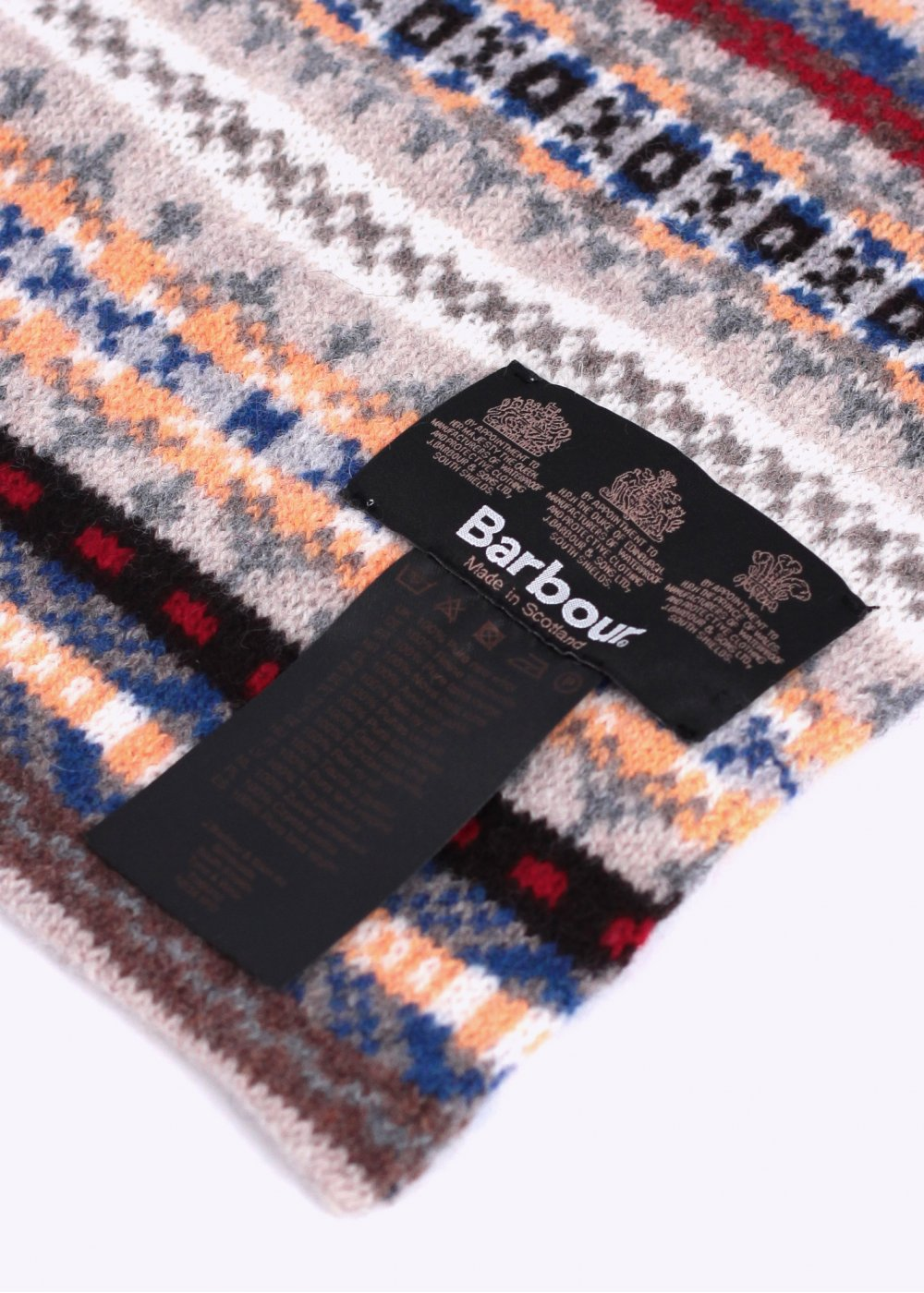 7f866066456 Barbour Melrose Wool Scarf - Washed Grey   Multi