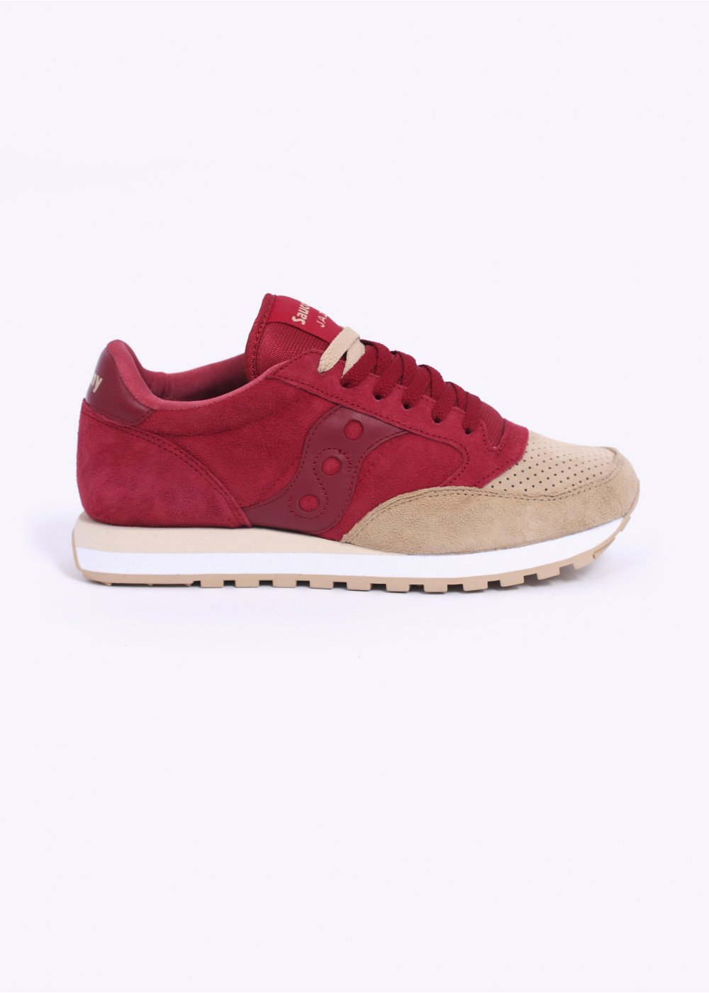 various colors ce8c7 7c0e2 Saucony Jazz O Lux Premium Trainers - Red / Sand