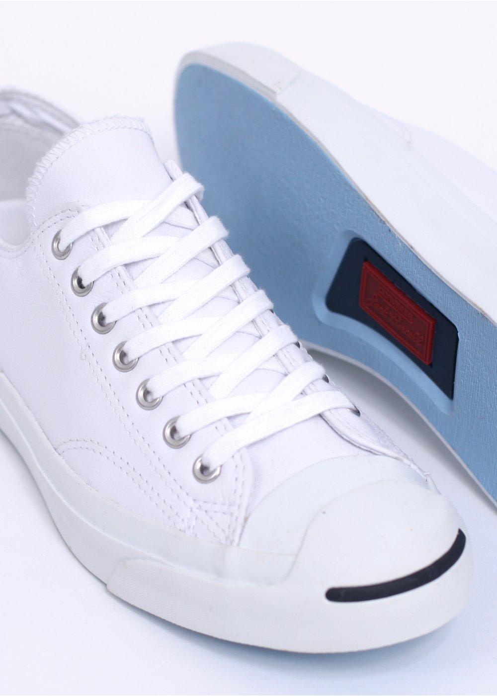 Jack Trainers Leather Ox Navy Converse Purcell White 80wXOPkn