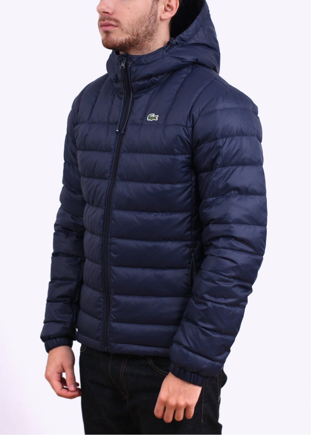 Lacoste Hooded Down Jacket - Marine Navy