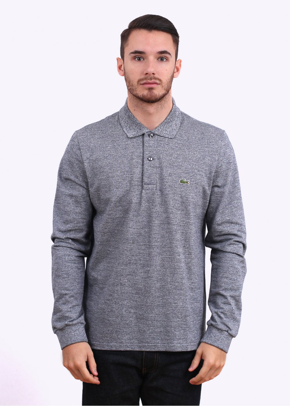55b8812417d17 Lacoste Long Sleeve Best Polo - Charcoal