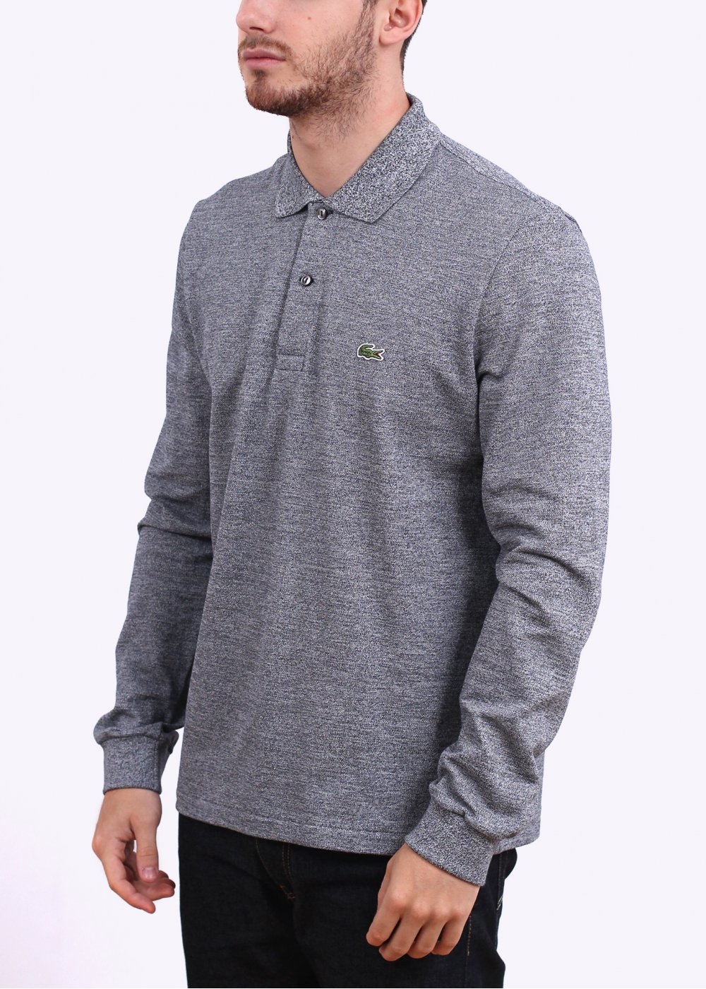 72702210 Lacoste Long Sleeve Best Polo - Charcoal