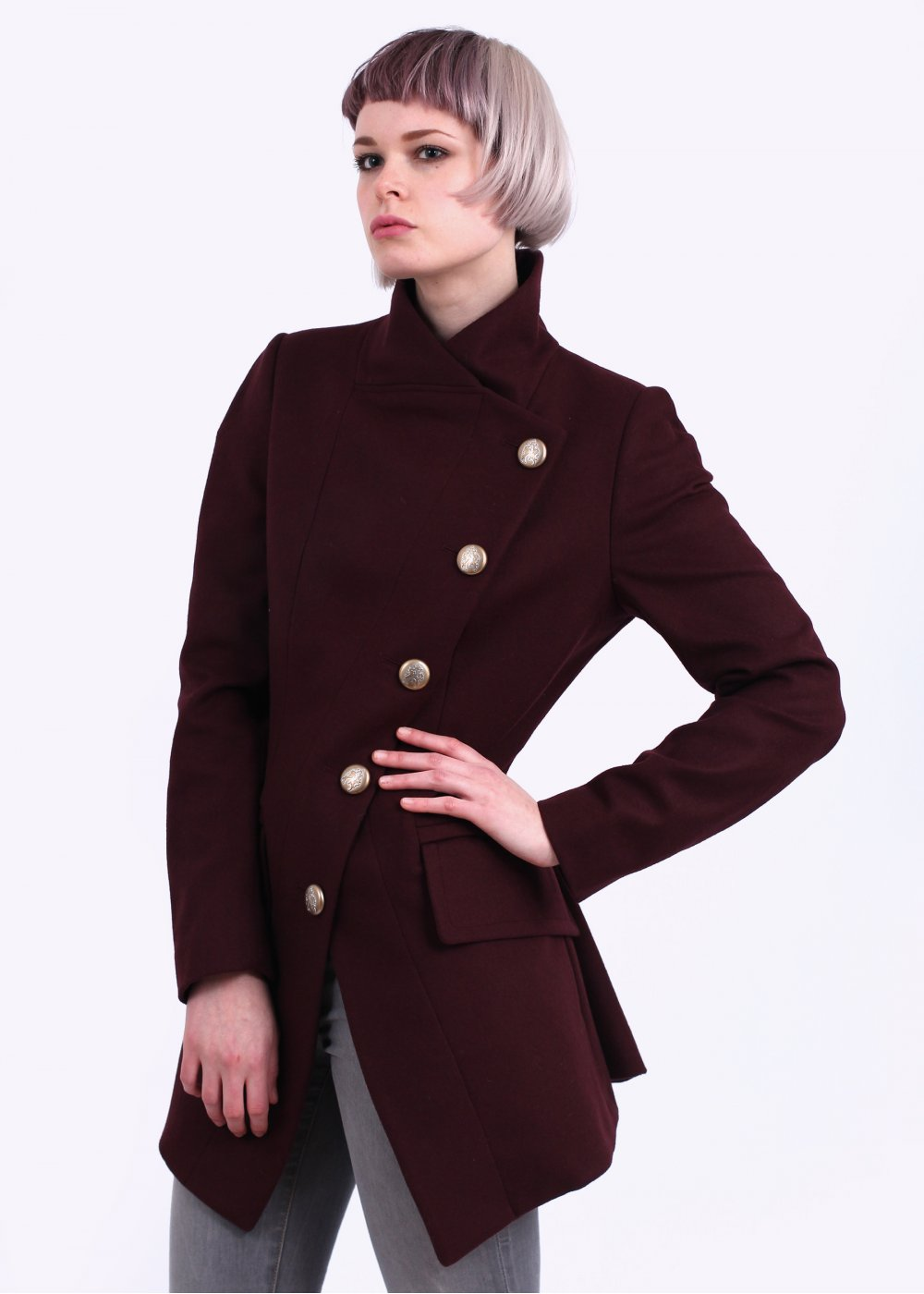 Vivienne Westwood Anglomania State Coat - Burgundy AW14. c8f795f1f