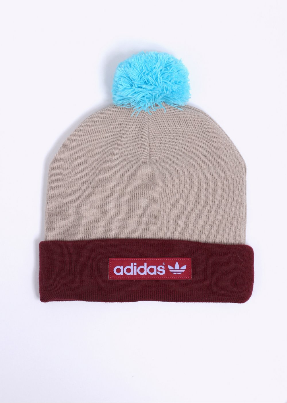 ab455a84 adidas Originals Logo Bobble Hat - Burgundy / Brown