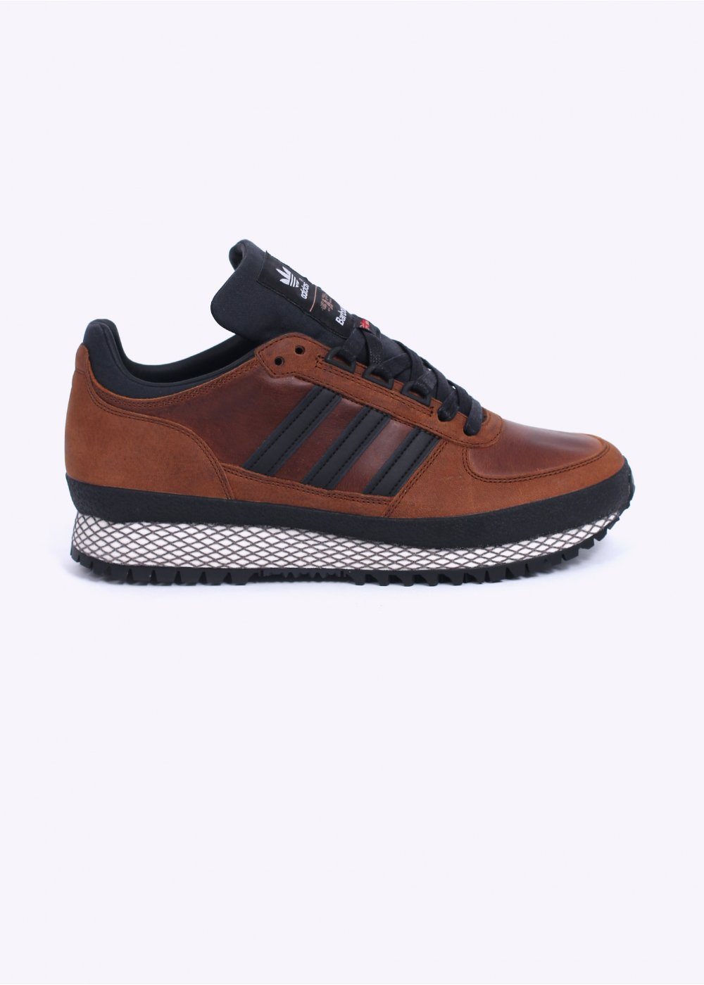 on sale fce4f 2862c adidas Originals x Barbour TS Runner Trainers - Spice Orange / Black