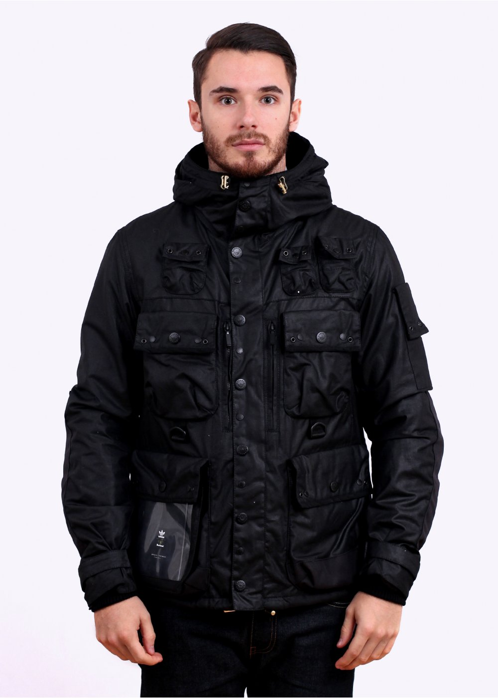wholesale dealer 4a0fa d17d0 adidas Originals x Barbour Baradi Jacket - Black