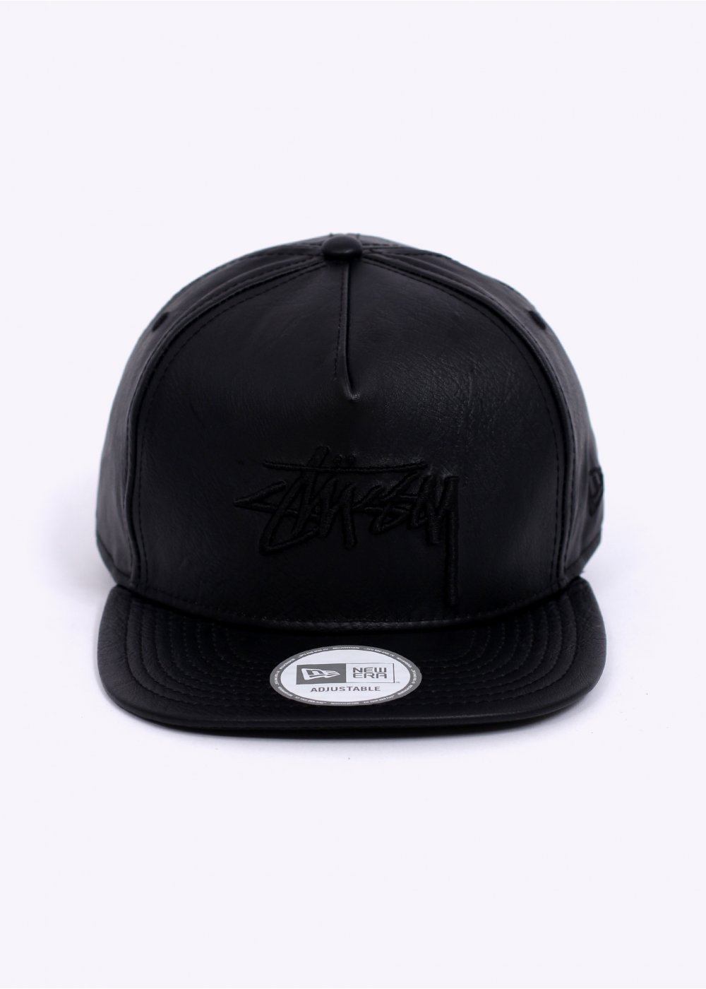 Stussy Stock New Era Cap - Leather Black 63e0372ee0c