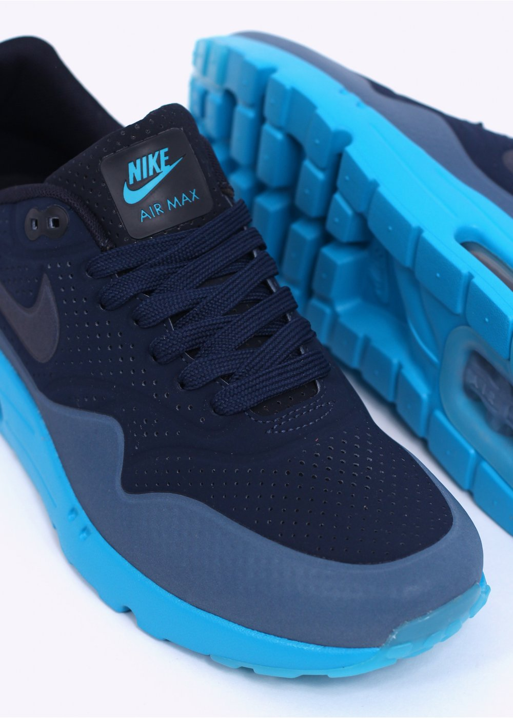 best service 29dac d7f09 Nike Air Max 1 Ultra Moire Trainers - Midnight Navy / Obsidian