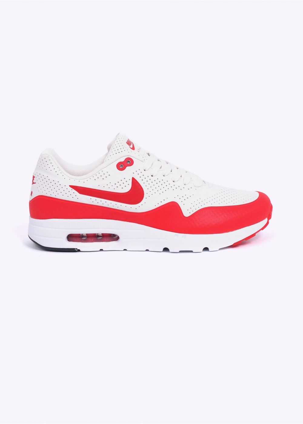 competitive price a6761 a3d0d Air Max 1 Ultra Moire Trainers - Summit White  Challenge Red