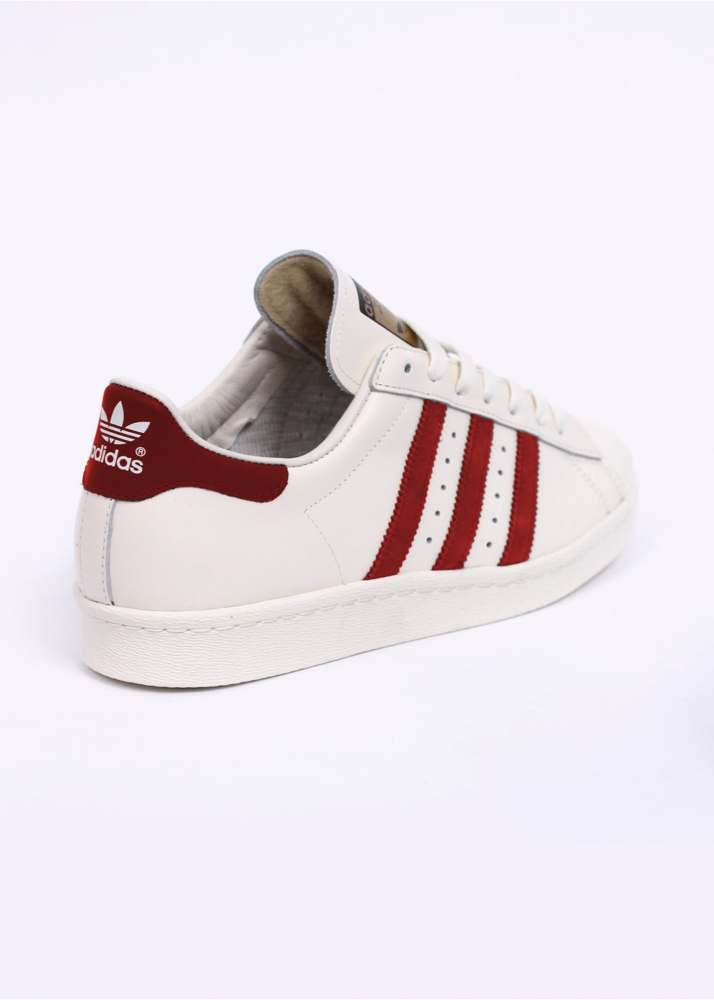 adca67b79d6a Superstar 80s Vintage Deluxe Trainers - Vintage White   Scarlet   Off White