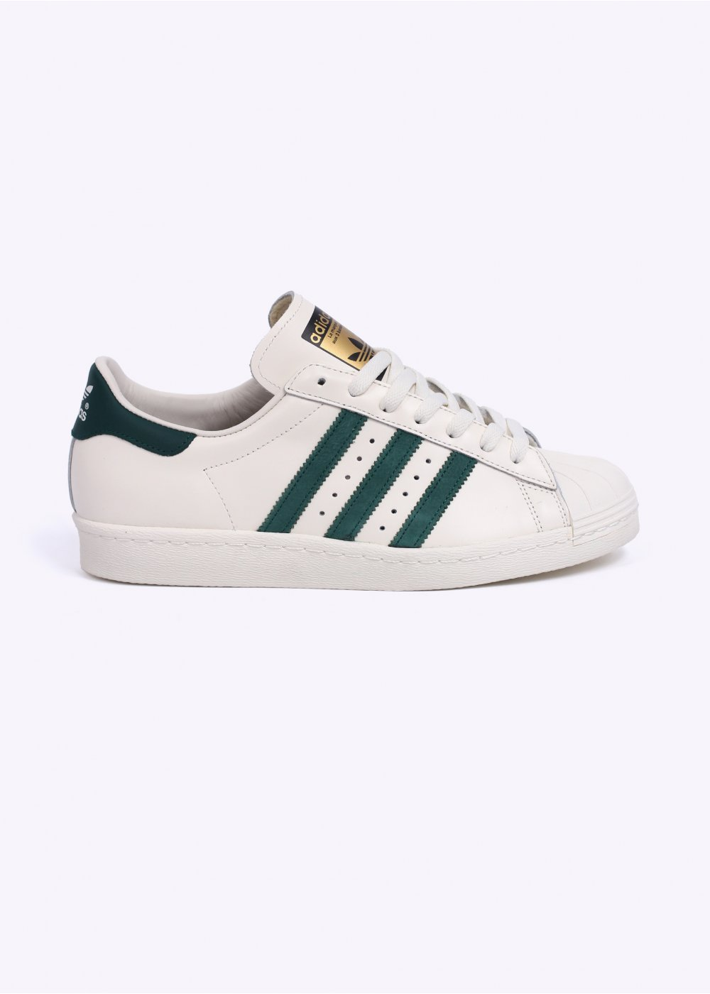 77322807f2ff Superstar 80s Vintage Deluxe Trainers - Vintage White   Collegiate Green    Off White