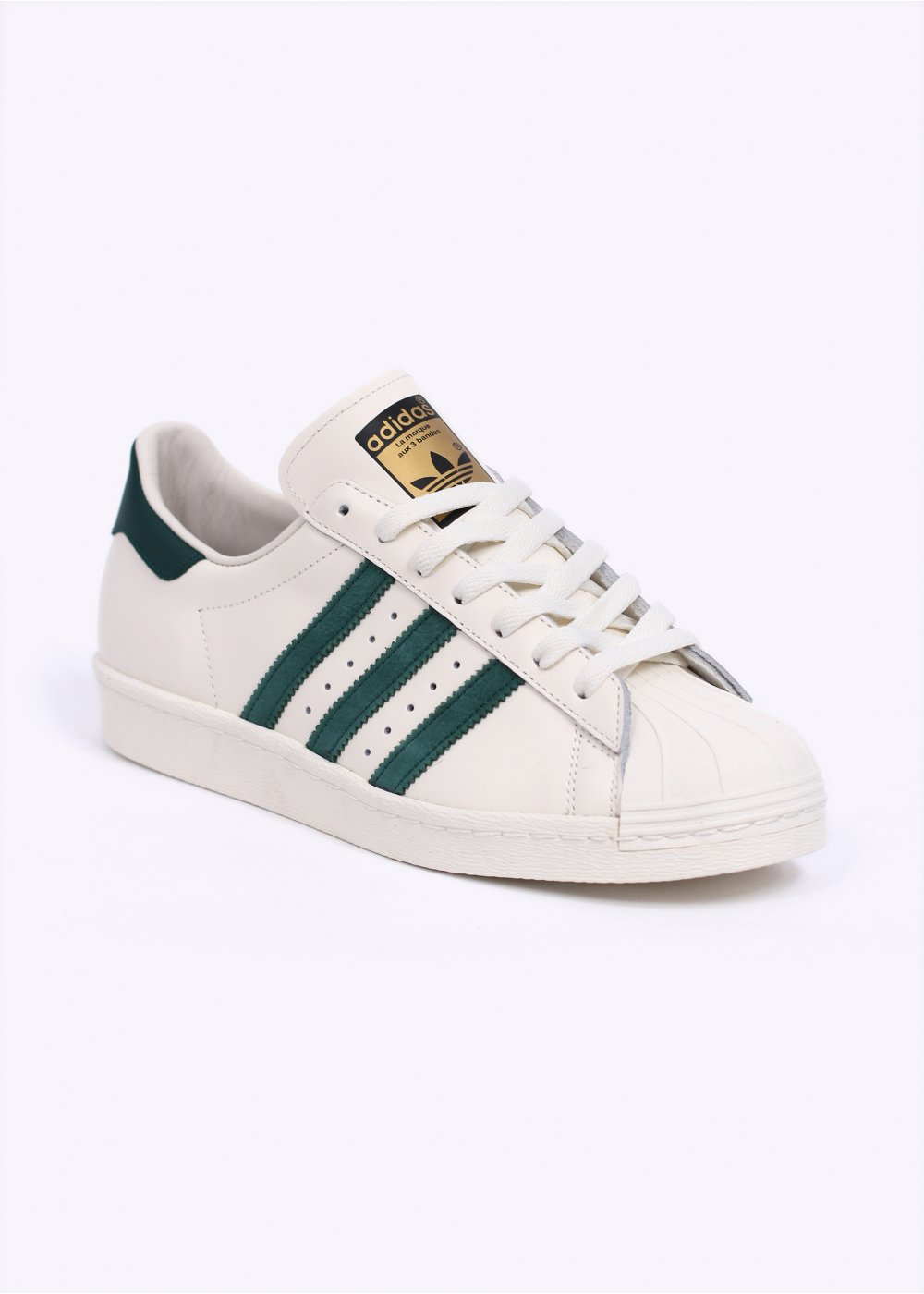 adidas superstar 80s green white
