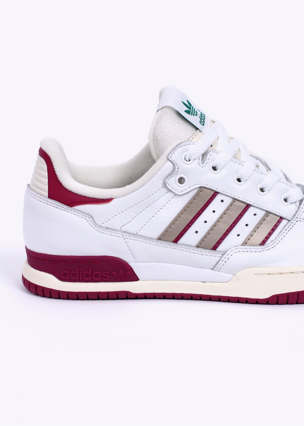 4ee7e44aae3f adidas Originals Tennis Super Trainers - White   Burgundy   Gold