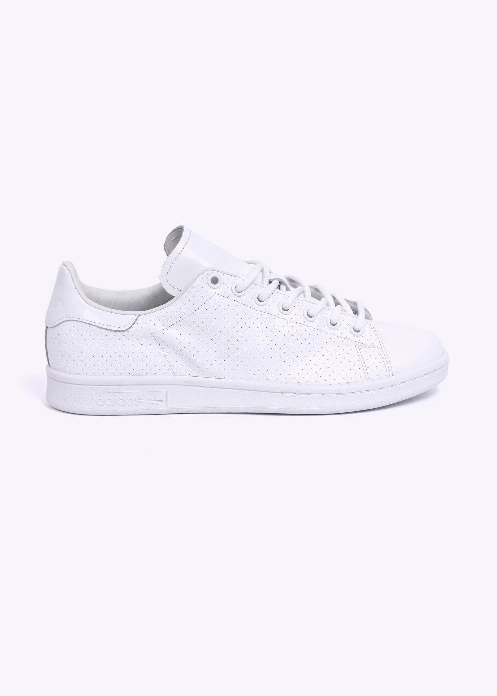 adidas Originals Stan Smith Perforated Leather Trainers - All White 9664b63be