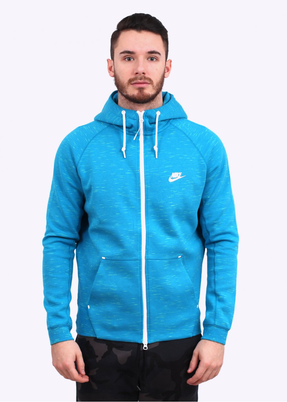 Nike Apparel Tech Fleece AW77 Hoodie , Light Blue